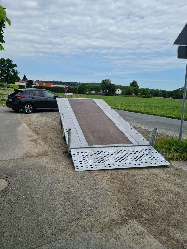Autoanhänger / Trailer / Plattformanhänger 3,5 T (kippbar, Seilwinde)
